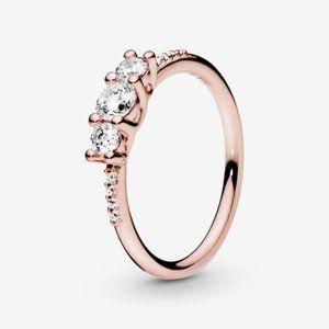 Pandora Clear Three-Stone Ring